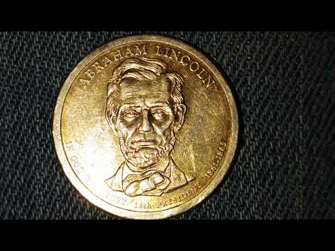 ABRAHAM LINCOLN  $1 COIN