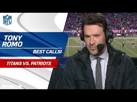 Best Tony Romo Calls from the AFC Divisional Matchup!  | Titans vs. Patriots | NFL Divisional Round