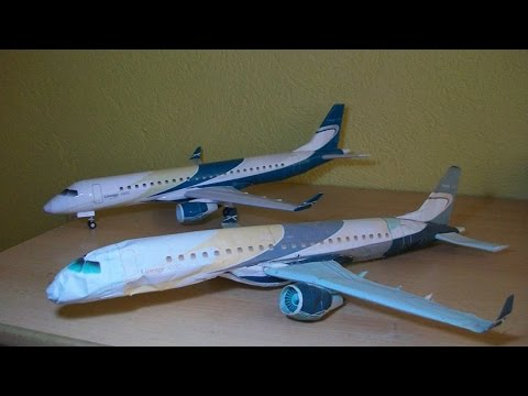Papercraft Embraer Lineage 1000 Papercraft (Remake)