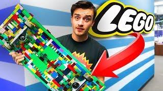 I Built A Life Sized Lego Skateboard!