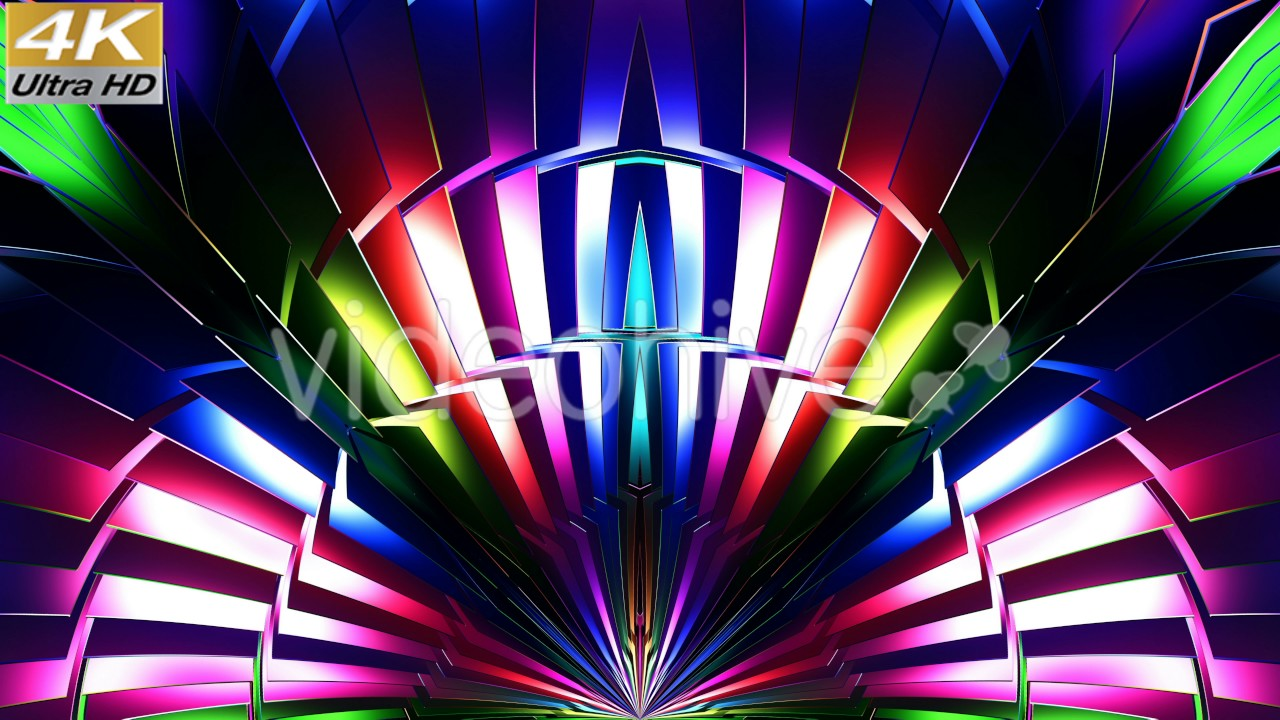colorful 3d vj stage loop animation 4k ultra hd visual background