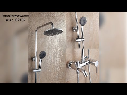 Rainfall Wall Mounted Shower Faucet Set With Hand Held Shower