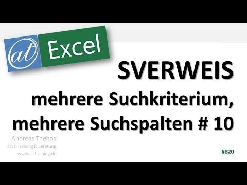 SVERWEIS mit mehreren Suchkriterien und mehrere Suchspalten - Excel-Funktionen
