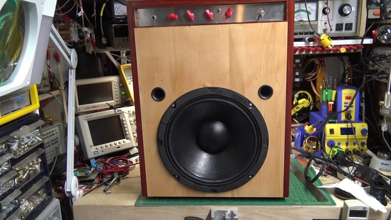 building a bass guitar amplifier part 4 cabinet and demo youtube. Black Bedroom Furniture Sets. Home Design Ideas