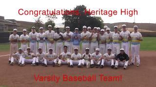 Heritage High School: Varsity Baseball 5-25-18