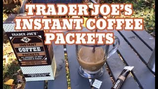 Trader Joe's Instant Coffee packets- Good Sunday Morning