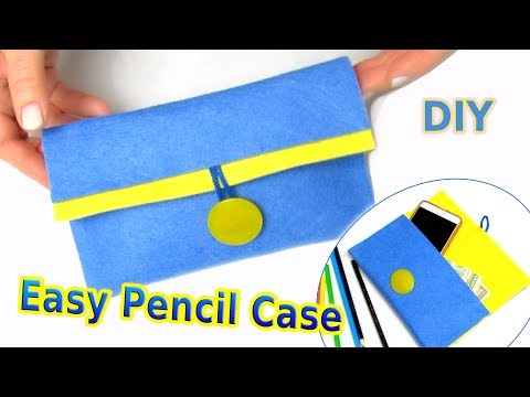 How To Make Pencil Case, Phone Case, Purse In 10 Minutes - DIY Easy School Supply - Crafts Tutorial