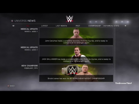 My WWE 2K17 Universe: WWE Fastlane (February.Week 4)