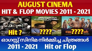 August Cinema Hit and Flop Movies || 2011 to 2021 Hit ? or Flop ? || Cinema Talks By Mr&Mrs