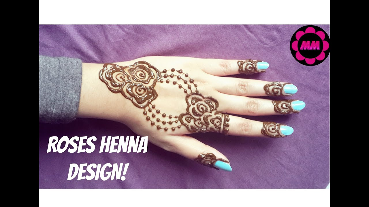 Diy Roses Henna Design Jewlery Style Pretty Mehendi Simple And