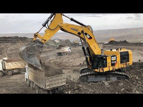 Cat 6015B Excavator Loading Trucks 70 Minutes Movie - Sotiriadis SA