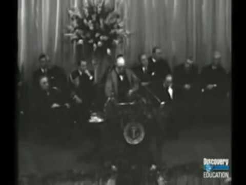"""Winston Churchill""""s Iron Curtain Speech"""