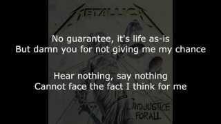 Metallica Dyer's Eve Lyrics (HD)