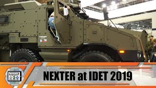 IDET 2019 Nexter Systems from France Titus 4x4 armored vehicle VBCI 2 Nerva LG UGV turret ammunition