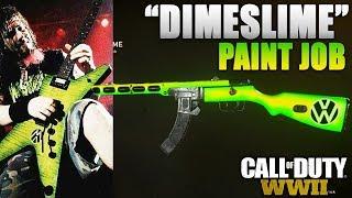 """""""DIMESLIME"""" PAINT JOB! - INSANE COD: WW2 PAINT JOBS! (NEW Paint Jobs in COD: WW2)"""