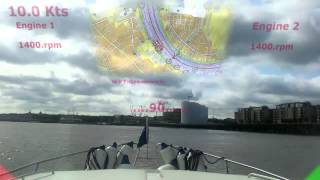 Boat Head Up Display -  A time lapse journey down the Thames.