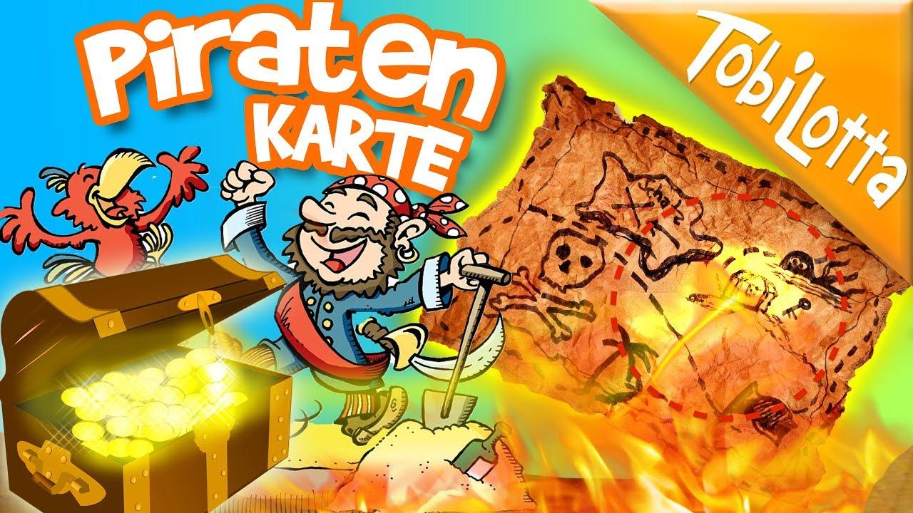 Diy Piraten Schatzkarte Basteln Mathi Kinderlider Kinderfilme