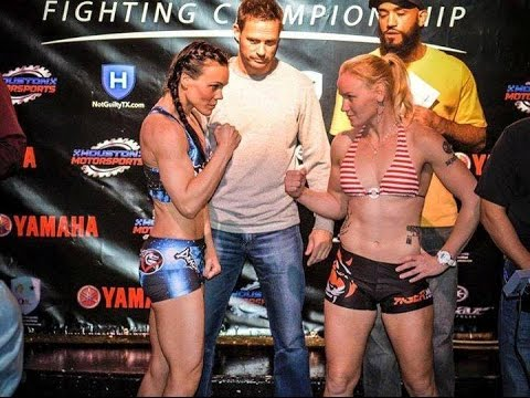 Valentina Shevchenko VS Jan Finney. Legacy 39. Official Weigh-in. 26.02.2015 Houston, TX