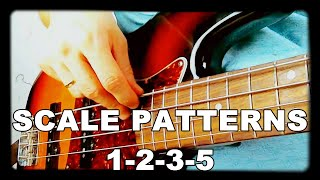 Walking Bass Lessons - L#4 Scale Patterns - 1-2-3-5
