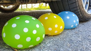 Crushing Crunchy & Soft Things by Car! EXPERIMENT CAR vs WATER BALLOONS
