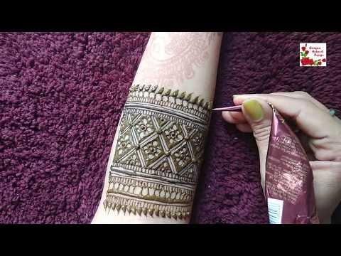 Learn Intricate  Beautiful Border For Hand ! Unique Mehndi Design ! Tutorial ! ( Monika )