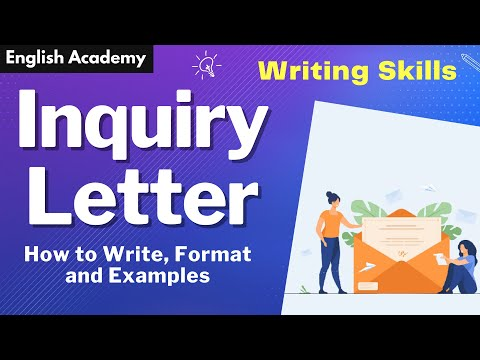 How to write Inquiry letter ? |  Inquiry Letter Format and example | CBSE NCERT