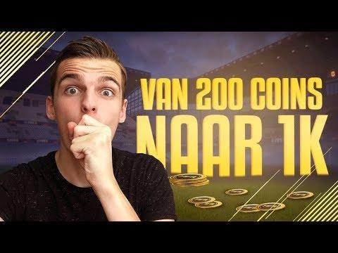 VAN 200 COINS NAAR 1.000 COINS IN 1 MINUUT! HANDEL TIP FIFA 18