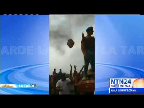 Régimen de Maduro destruye tres camiones con ayuda humanitaria