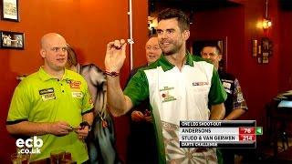 Jimmy Anderson, Gary Anderson, Michael van Gerwen darts challenge