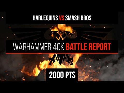 Warhammer 40k 8th Edition - Harlequins vs Smash Bros - 2000pts - Battle Report