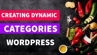 Creating Dynamic Categories In Wordpress  Convert Html To Wordpress In Hindi