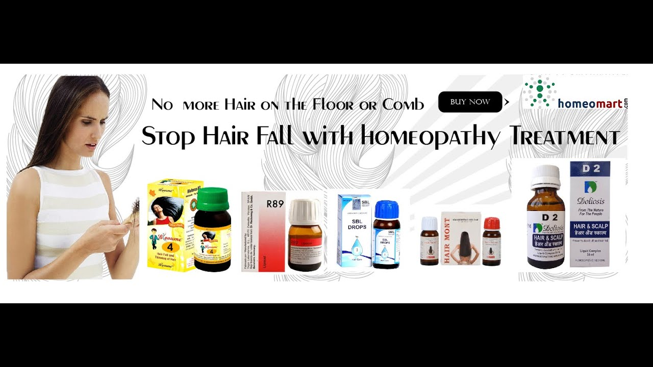Top 5 Homeopathic remedies for hair loss from SBL, Reckeweg, Allen etc