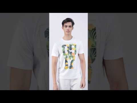 0917 Tropical T-Shirt White Men