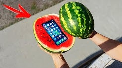 Experiment: Phone Inside a Watermelon