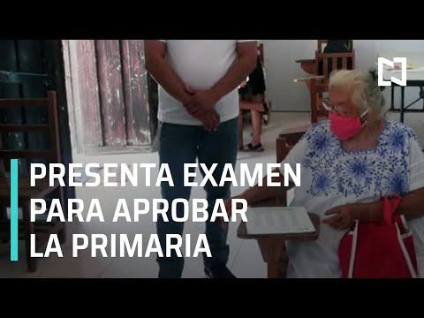 Abuelita presenta examen de matemáticas - Expreso de la Mañana