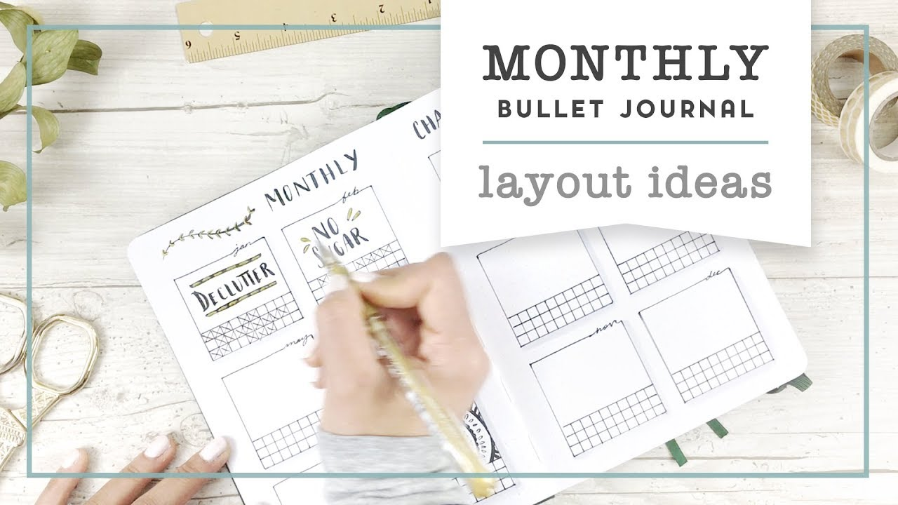 Bullet Journal Monthly Layout ideas