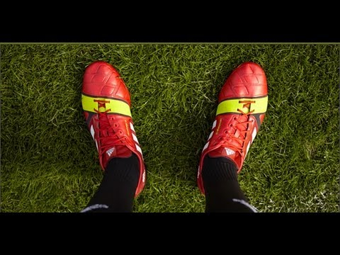 the latest 44650 aafe1 ... PES 2013 boots, Adidas Nitrocharge 1.0 - Red White Electricity ...
