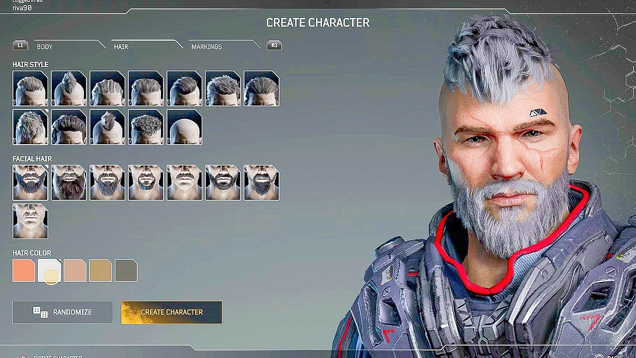 Outriders - Full Male Character Customization (DEMO PS5) - YouTube