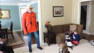 Teaching Dogs to Stay - DOG INTERVENTION Dog Whispering BIG CHUCK MCBRIDE