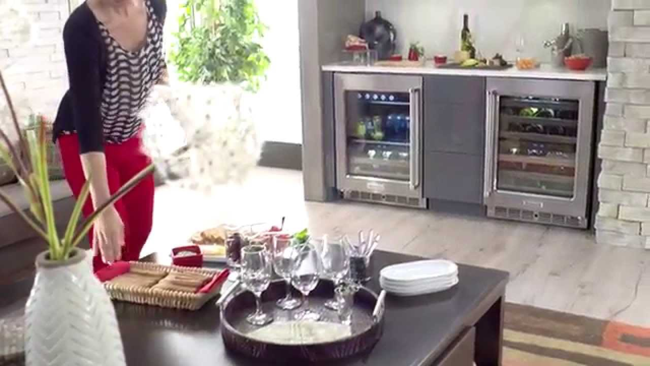 Wine Cellar And Beverage Center Kitchenaid Youtube