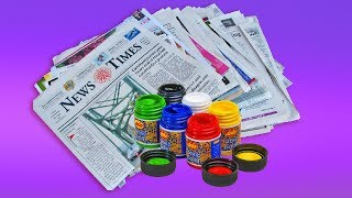 DIY : Newspaper wall hanging   Hand made Genius Craft Idea out of Paper   Newspaper Crafts