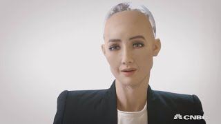 CNBC's Karen Tso catches up with 3-year-old humanoid robot, Sophia,...