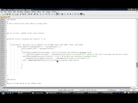 PT3 of Perl CGI programming