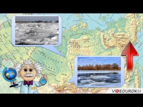 Как определить течение реки на карте