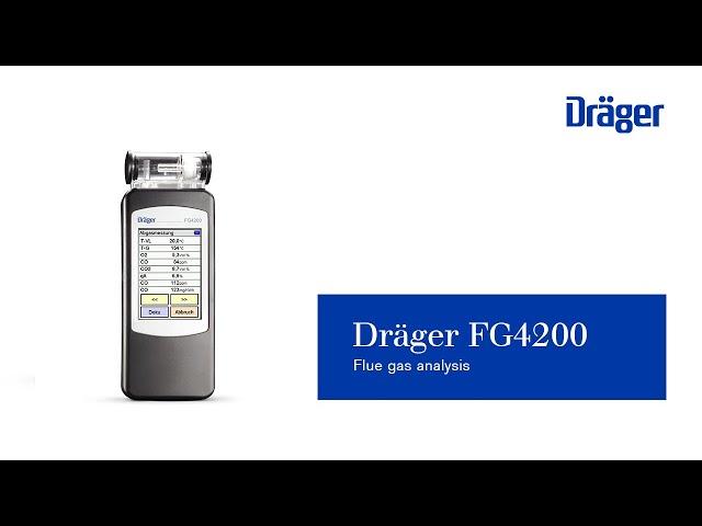 Flue gas analysis using Dräger FG4200