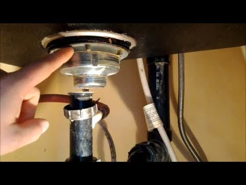 How to Replace A Kitchen Sink Strainer - YouTube