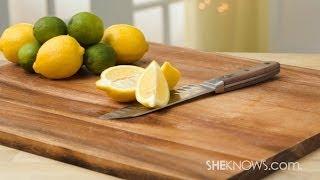 Clean A Wooden Cutting Board
