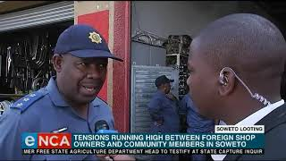 Police raid businesses in Soweto