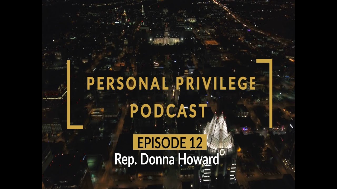 Personal Privilege with Rep. Donna Howard