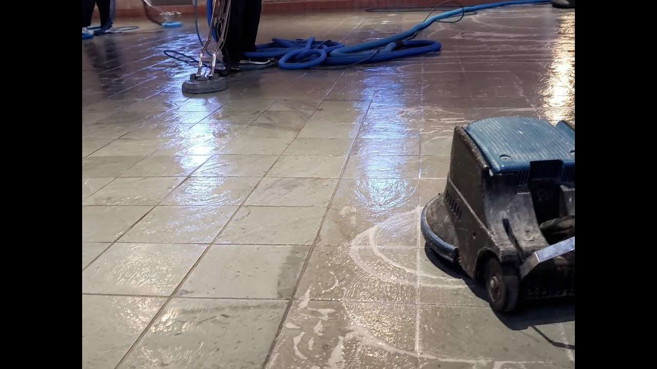 Natural Stone Slate Tile Cleaning In Tulsa Youtube